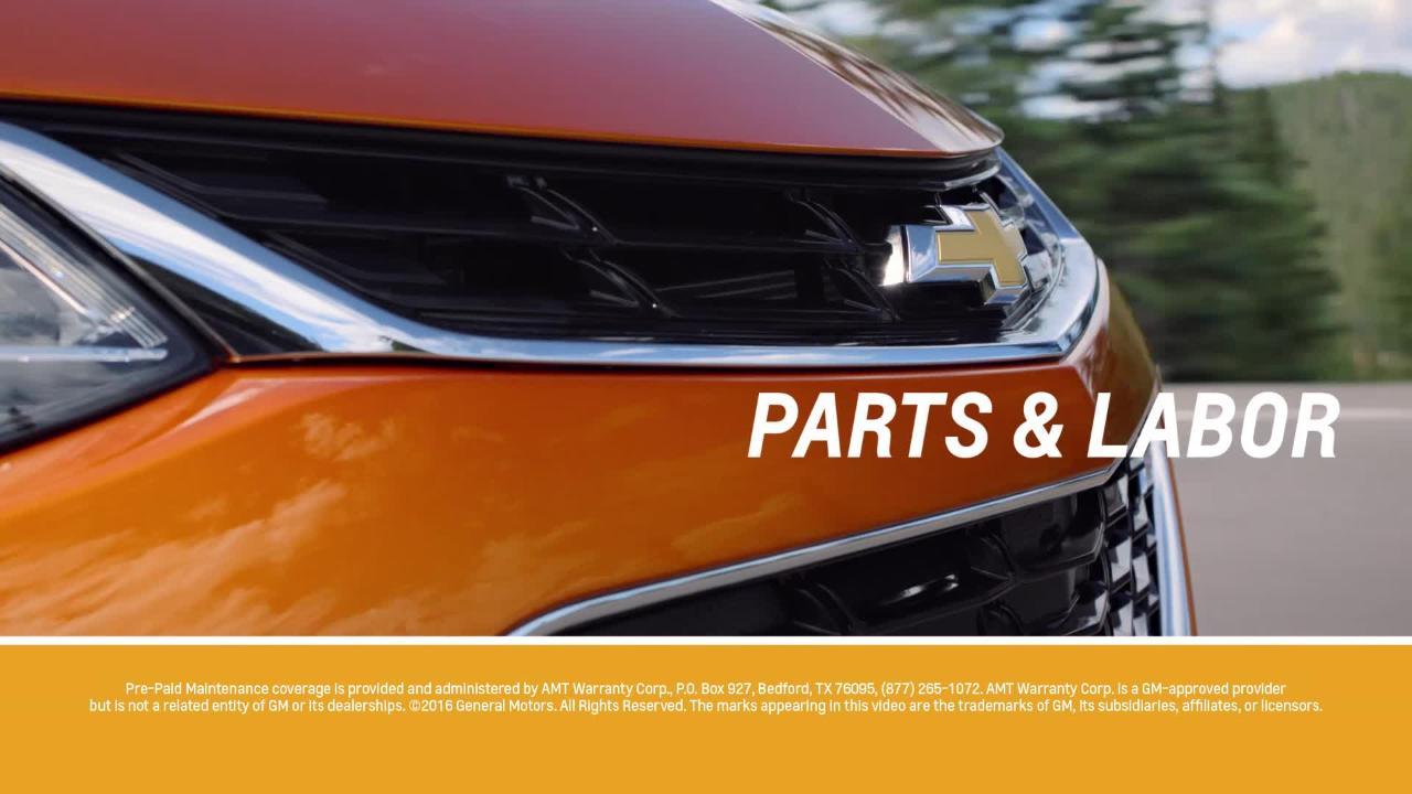 Pre-Paid Maintenance Plans | Chevrolet Protection